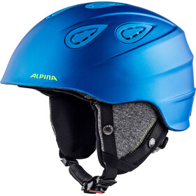 Alpina Grap 2.0 Skihelm, blue-neon-yellow matt